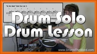 ★ No One Knows (QOTSA) ★ Drum Lesson (1st SOLO) | How To Play Drum Solo (Dave Grohl)