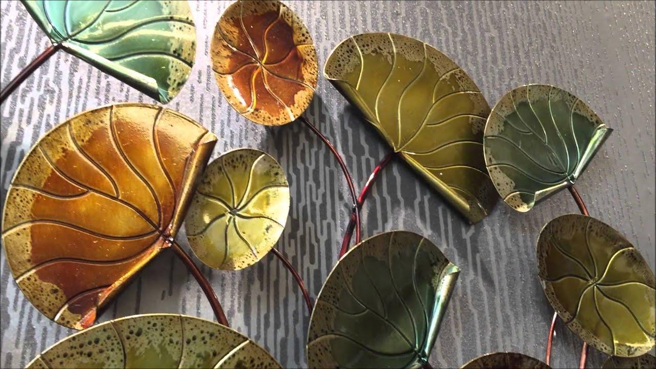 IwannaDecorate Metal Wall Sculpture Lotus Leaves