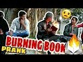Burning Book PRANK🔥- | Apna Prank | Prank in India