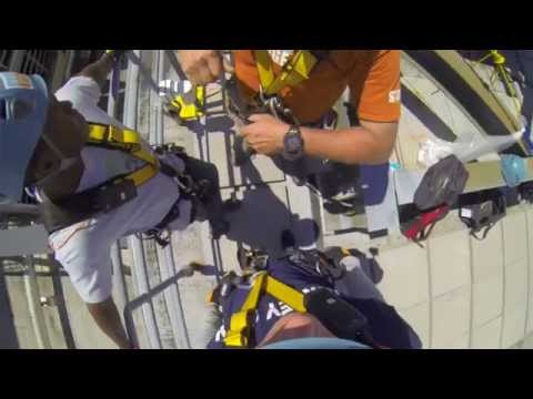 Rappelling For Cancer Research: Director Shea Goes Over the Edge