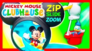 MICKEY MOUSE Disney Mickey Mouse Clubhouse Zip n Slide Funny Kids Toys Video