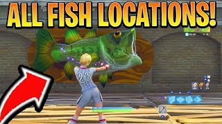 """Dance with a Fish Trophy at different Named Locations"" - ALL 7 LOCATION WEEK 8 CHALLENGES FORTNITE"