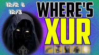 where s xur xurs location today december 2 december 3 12 2 12 3