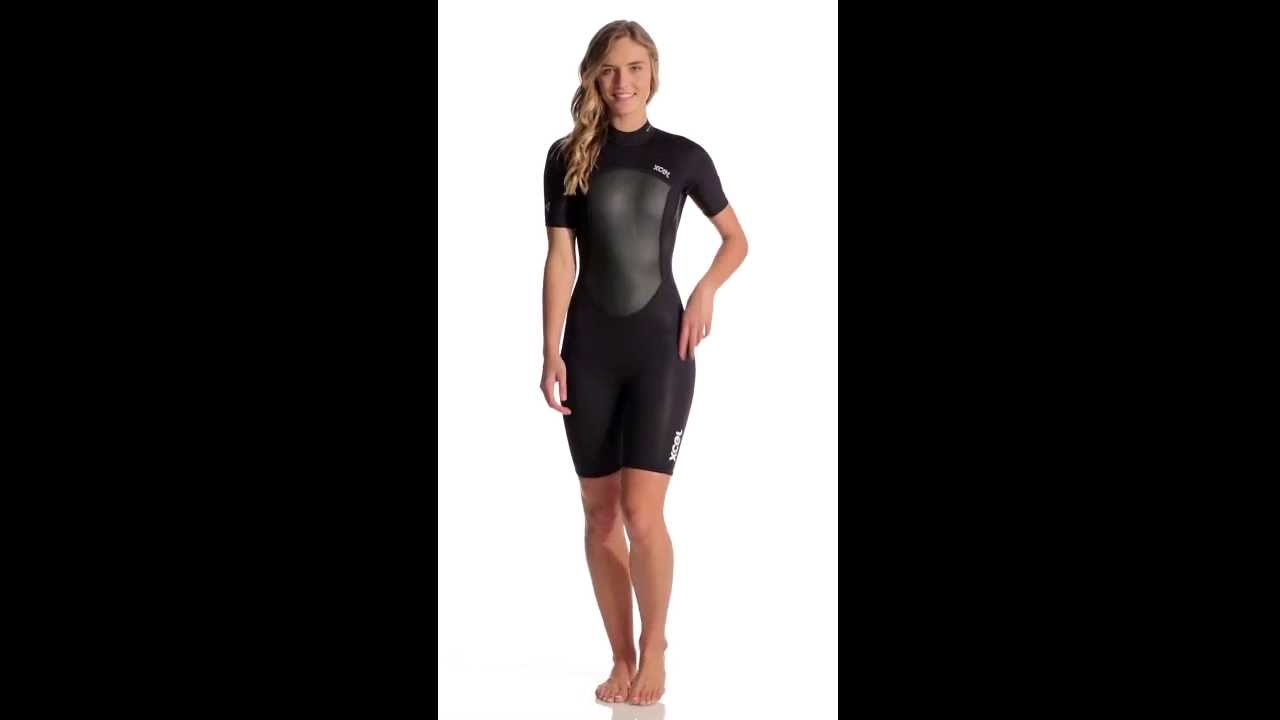 5a926e6f31 Xcel Women s 2MM Axis Offset Short Sleeve Spring Suit Wetsuit ...