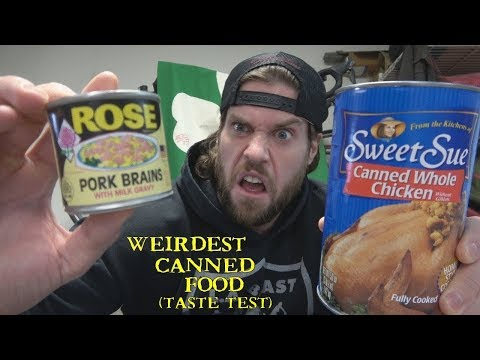 The Weirdest Canned Food Taste Test Challenge | L.A. BEAST