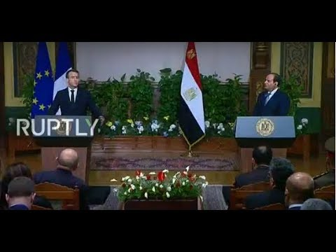LIVE: Macron and Al-Sisi hold joint press conference in Cairo