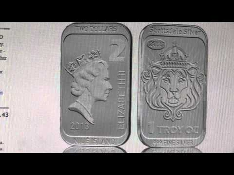 1 Oz Scottsdale Silver CoinBar - Niue Legal Tender preview, discuss
