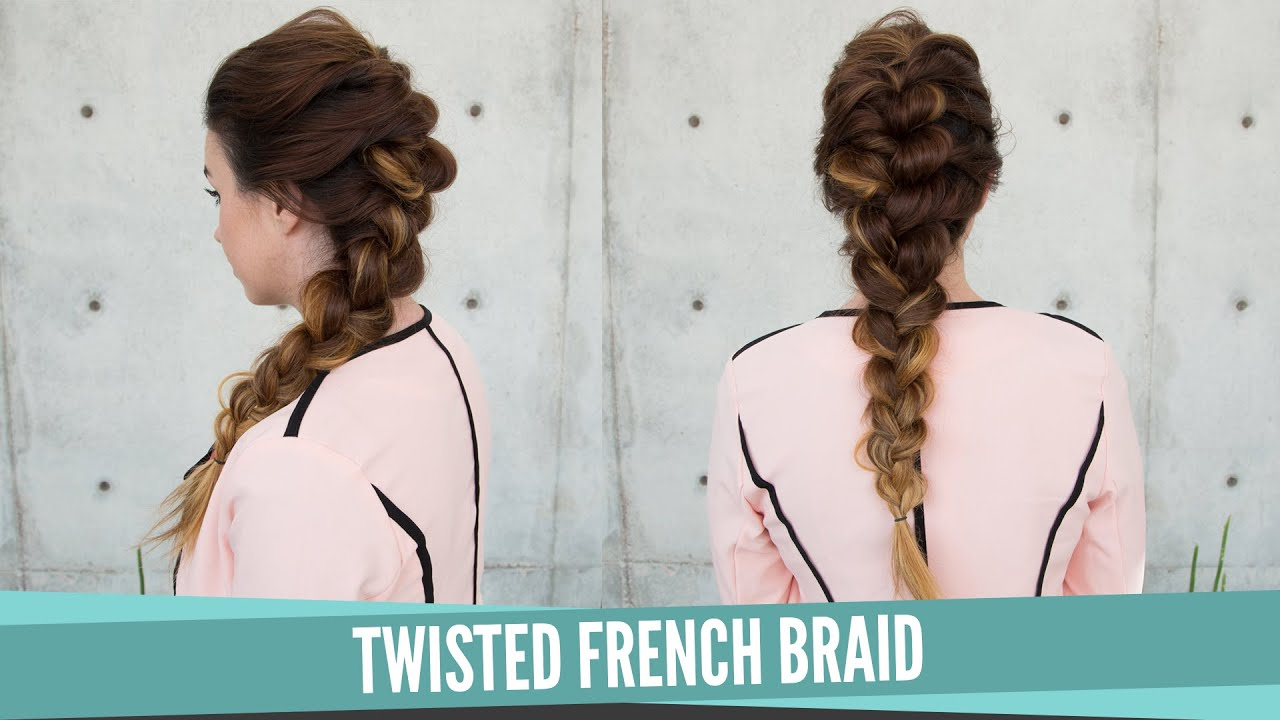 Twisted french braid youtube ccuart Choice Image
