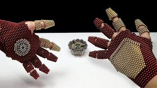Iron Man gloves VS ThaNOSE 1,300 sphere magnets  - Neoballs