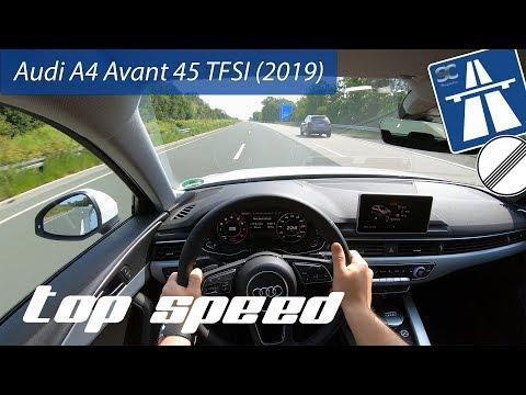 Audi A4 Avant 45 TFSI (2019) On German Autobahn - POV Top Speed Drive