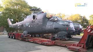 Kettő Mi-24 Es Harci Helikopter érkezett Szolnokra 2018.09.13.