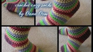 crochet cozy socks