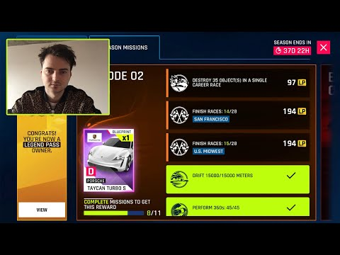 Play Carrere In Asphalt 9 Do Season Mission To Get All LP 8 Barrel Rows