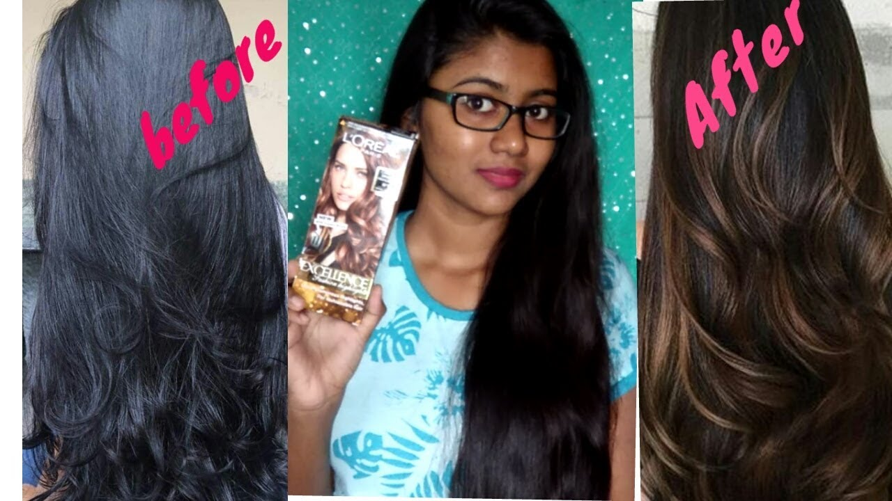 How To Highlight Black Hair At Home For Cheap Youtube