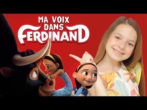 Ma voix dans FERDINAND au cinéma ! Je suis Nina ! Le dessin animé événement !