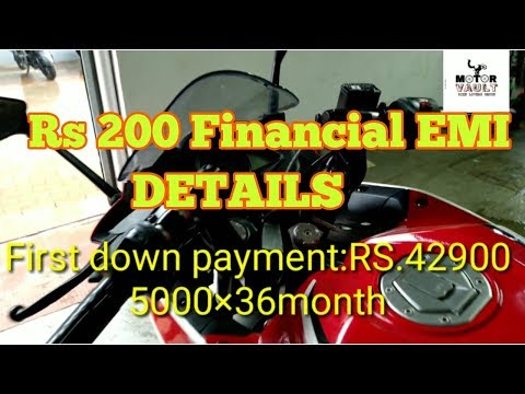 BAJAJ RS200 FULL FINANCE DETAILS | monthly emi|ONROAD PRICE