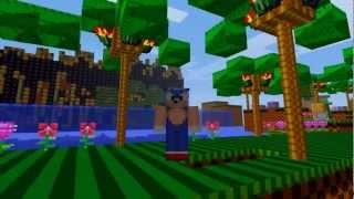 sonic the hedgehog green hill run in minecraft