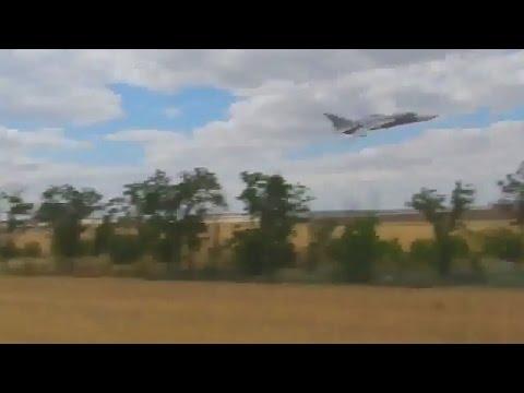 Ukraine War - Ukrainian jet fighter after Russian armed forces near Sloviansk Ukraine