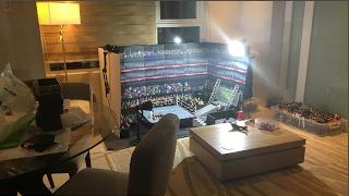 BUILDING HUGE WWE TOY ARENA IN LIVING ROOM   WWE FIGURE VLOG #1
