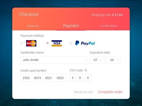 Modern Credit-card Checkout With Bunifu UI 1.5.3 - WinForms  -  C# , VB.net Visual Studio