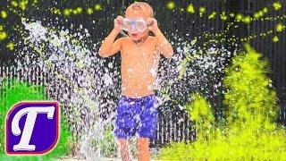 Водная Музыкальная Детская Площадка в Вашингтоне USA Фонтаны Развлечения Для Детей Влог Макс Играет
