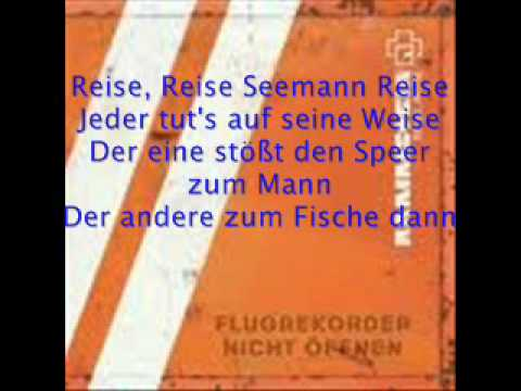 Rammstein - Reise, Reise - Deutsch liedtext
