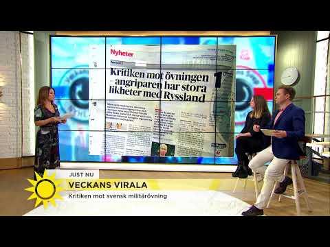 Här är jätteövningen som ska bygga upp svenska försvaret igen  - Nyhetsmorgon (TV4)