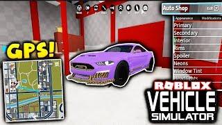 *NEW* CUSTOMIZABLE AUTO-SHOP LAYOUT AND GPS UPDATE! - Roblox Vehicle Simulator
