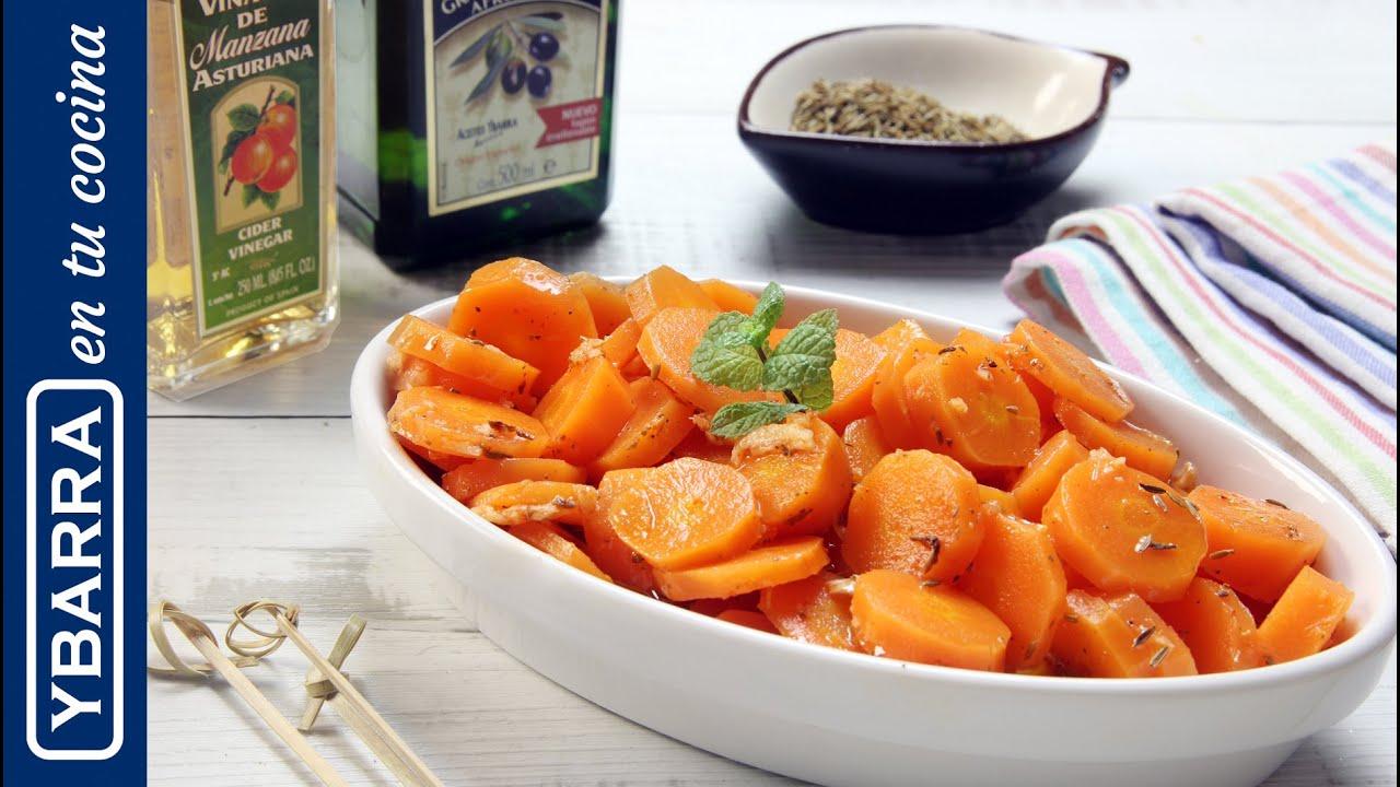 Zanahorias alinadas preparar como