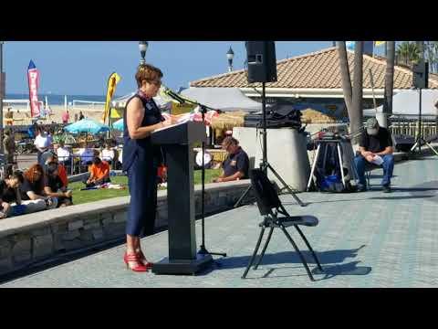HB Mayor Barbara Delgleize Veterans Day Ceremonies