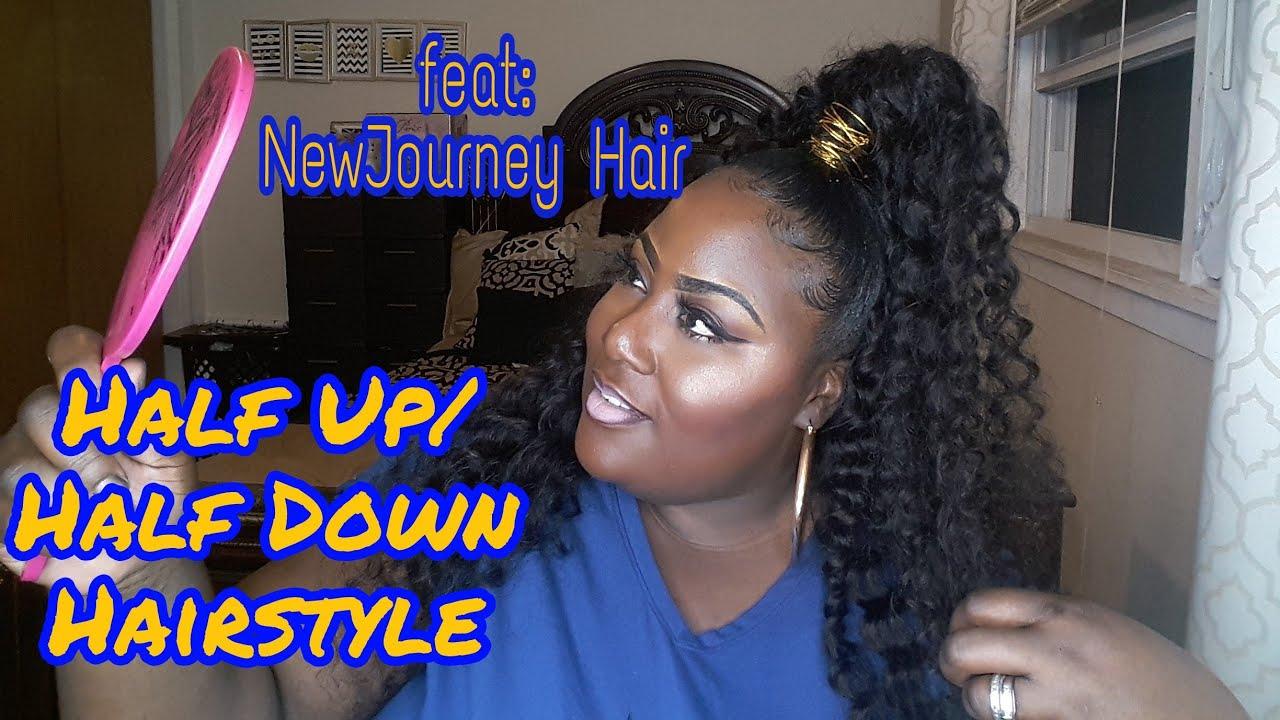Half Up Half Down Genie Ponytail Quick Weave 2018 Youtube