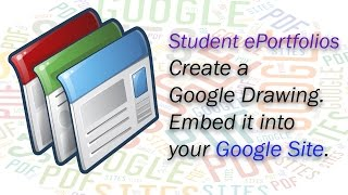 The Learning Portfolio for Students - Creating a Google Drawing - Embed Drawing in your Google Site