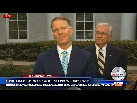 WATCH: Roy Moore's Attorney Holds PRESS CONFERENCE to Discuss Allegations