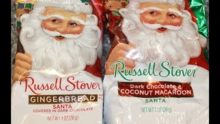 Russell Stover: Gingerbread And Dark Chocolate & Coconut Macaroon Santa Review