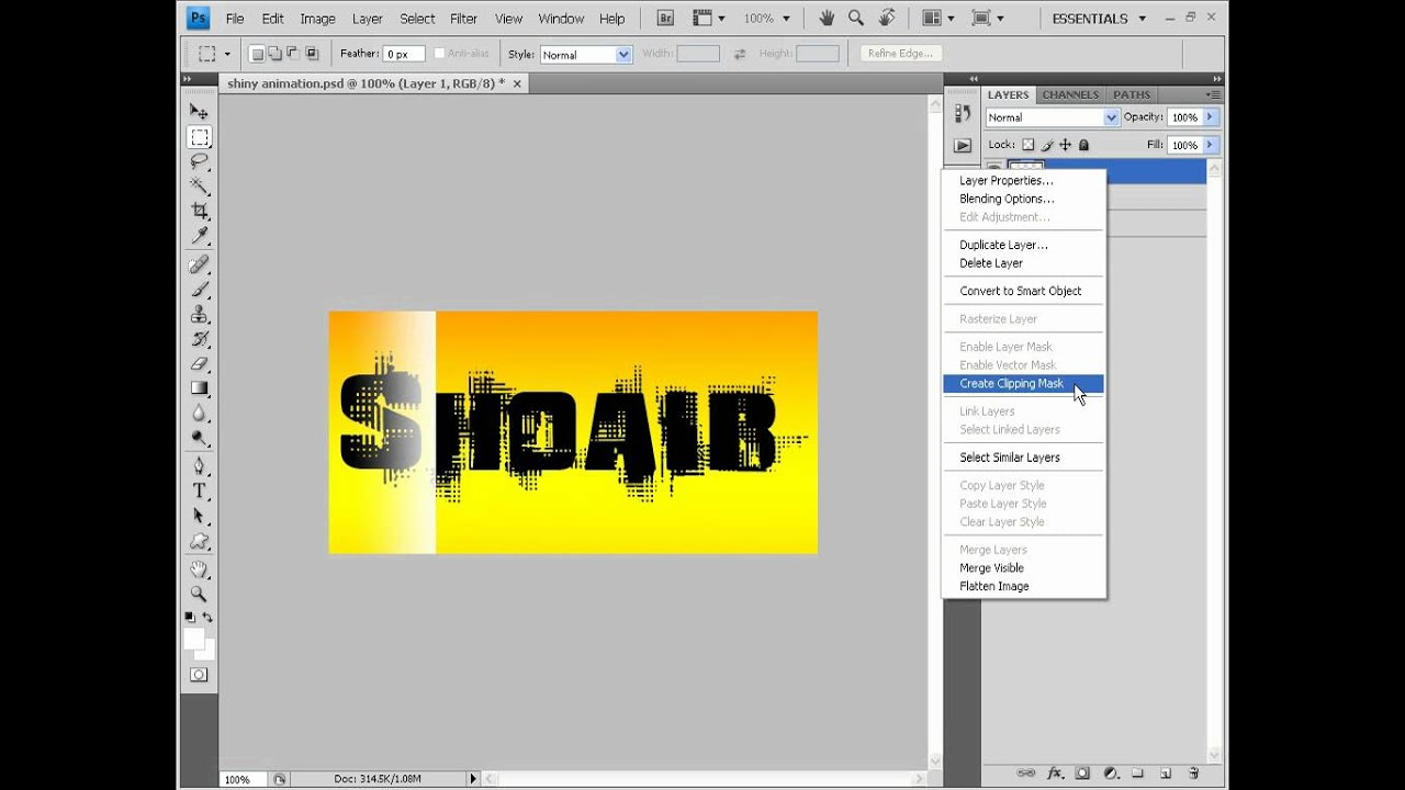 Tutorial on making a transparent shiny text Animation in ...