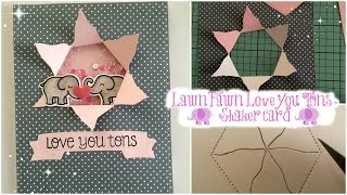 Lawn Fawn Love You Tons Shaker Card