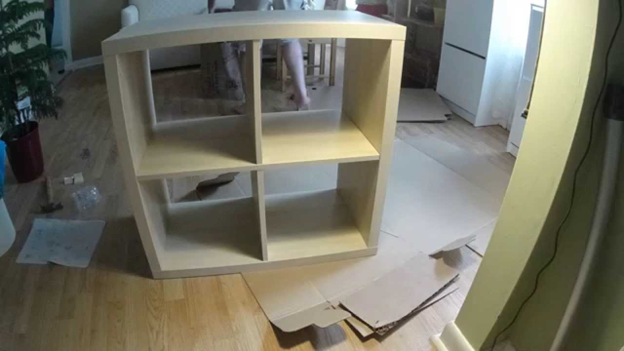 Ikea Expedit Youtube Ikea Kallax Assembly Shelf