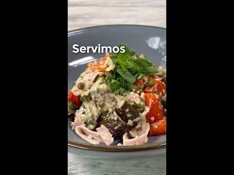 Mézclum de Quinua con Jamón de Cerdo, Lentejas y Vegetales Rostizados