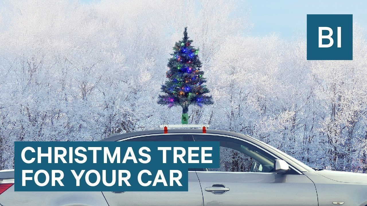 Car Christmas Tree.This Christmas Tree Goes On Top Of Your Car