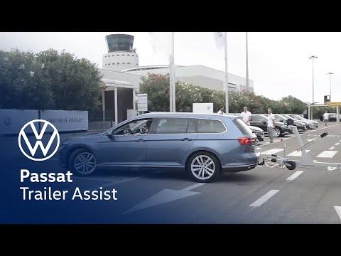 volkswagen passat trailer assist - youtube