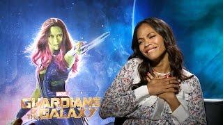 Zoe Saldana Talks Guardians & Gets Surprise Visit