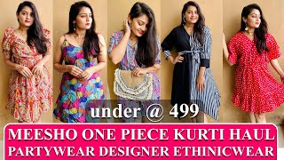 - MEESHO ONEPIECE KURTI  HAUL | CASUAL EVERYDAY LADIES WEAR | AFFORDABLE WITH QUALITY @MEESHO screenshot 2