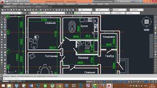 Как начертить план в  AutoCad!!!(Ссылка на сайт библиотек материалов - http://www.proektant.org/index.php?topic=260.0 Дополнительные теги: AutoCad 2015 how to draw..., 2015-05-24T06:32:43.000Z)