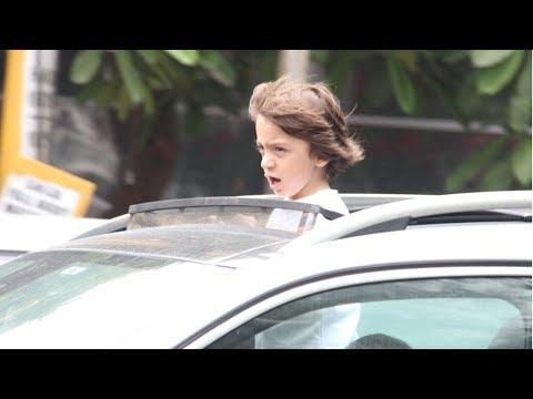 Shahrukh Khan's Son AbRam Khan Enjoying Open Car Ride On Mumbai Roads