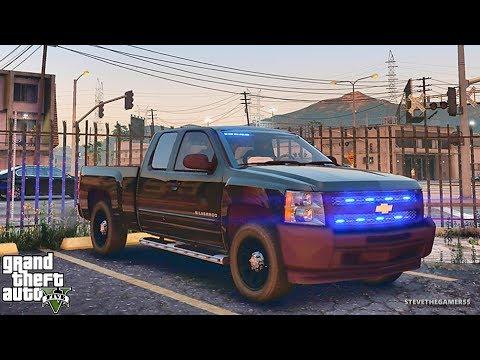 GTA 5 MODS LSPDFR 739 - UNMARKED SILVERADO PATROL !! (GTA 5 REAL LIFE PC MOD)