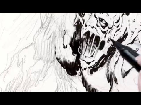 Tim Vigil Drawing and Inking Monsters