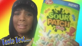 Sour Patch Kids Cereal..Taste Test and Review!!