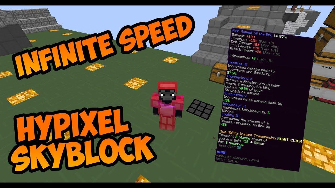 Bug    *OP* INFINITE SPEED IN HYPIXEL SKYBLOCK! | Hypixel