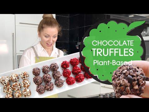 RAW VEGAN CHOCOLATE TRUFFLES: Classic, Peppermint and Almond (GF & Refined Sugar-Free)