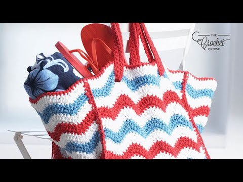 How To Crochet Yarn Tote Beach Bag